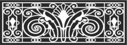 Design pattern railing E0009612 file cdr and dxf free vector download for Laser cut CNC