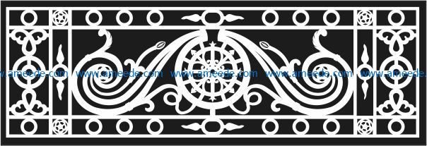 Design pattern railing E0009611 file cdr and dxf free vector download for Laser cut CNC Pattern railing