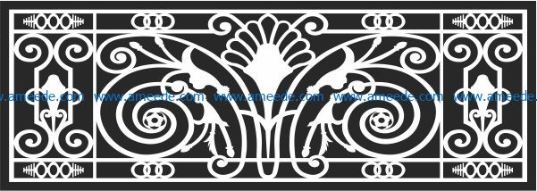 Design pattern railing E0009611 file cdr and dxf free vector download for Laser cut CNC