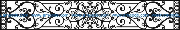 Design pattern railing E0009686 file cdr and dxf free vector download for Laser cut CNC