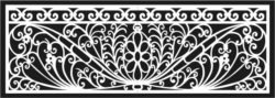 Design pattern railing E0009687 file cdr and dxf free vector download for Laser cut CNC