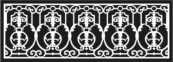 Design pattern railing E0009688 file cdr and dxf free vector download for Laser cut CNC