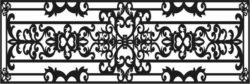 Design pattern railing E0009689 file cdr and dxf free vector download for Laser cut CNC