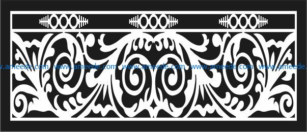 Design pattern railing E0009690 file cdr and dxf free vector download for Laser cut CNC