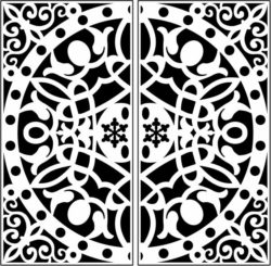 Design pattern screen E0009691 file cdr and dxf free vector download for Laser cut CNC