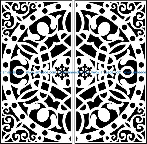 Design pattern railing E0009691 file cdr and dxf free vector download for Laser cut CNC