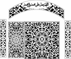 Design pattern screen E0009692 file cdr and dxf free vector download for Laser cut CNC