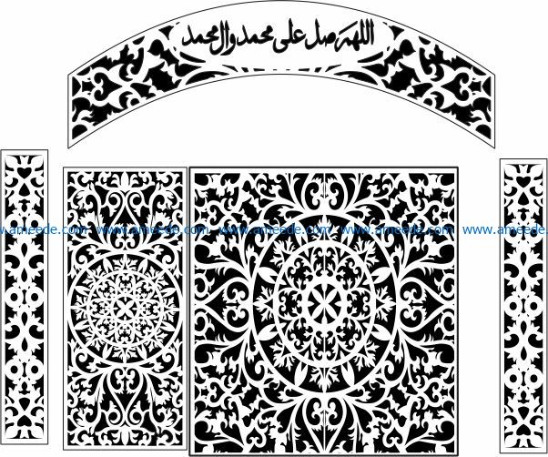 Design pattern railing E0009692 file cdr and dxf free vector download for Laser cut CNC