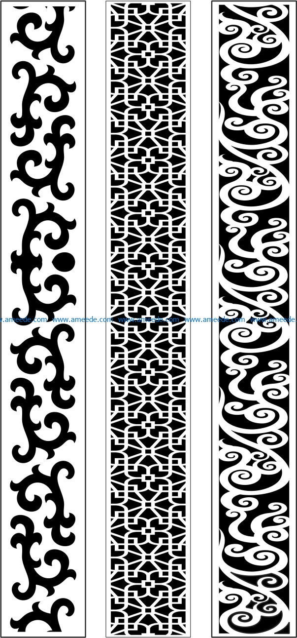 Design pattern woodcarving E0009622 file dxf free vector download for Laser cut CNC