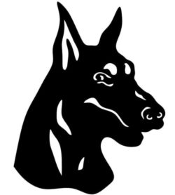 Doberman dog file cdr and dxf free vector download for Laser cut Plasma