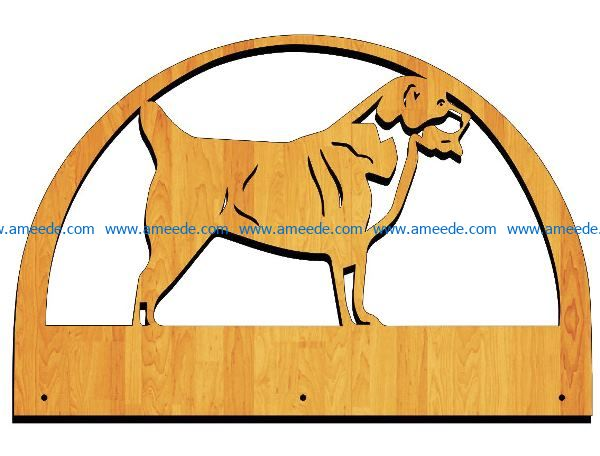 Dog key holder file cdr and dxf free vector download for Laser cut Plasma