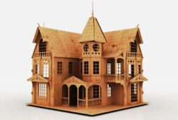 Doll house plans file cdr and dxf free vector download for Laser cut