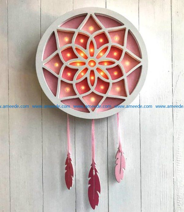Dream catcher file cdr and dxf free vector download for Laser cut
