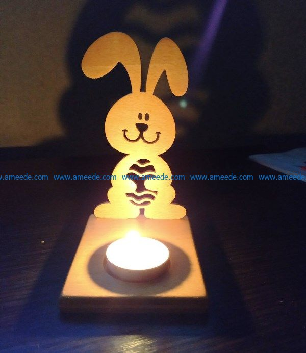 Easter bunny candle file cdr and dxf free vector download for Laser cut
