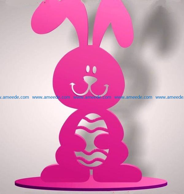 Easter bunny file cdr and dxf free vector download for Laser cut