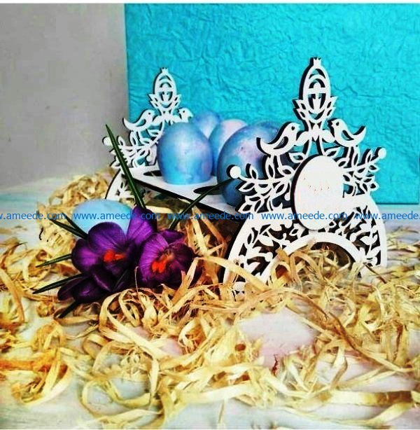 Easter eggs stand file cdr and dxf free vector download for Laser cut