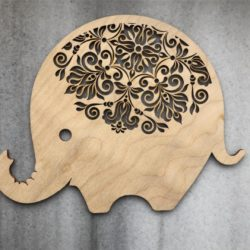 Elephant file cdr and dxf free vector download for Laser cut