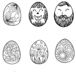 Face decorated with easter eggs file cdr and dxf free vector download for laser engraving machines