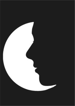 Face with the moon file cdr and dxf free vector download for Laser cut