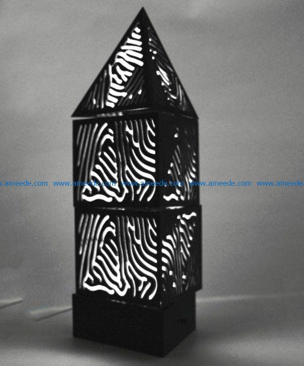 Fingerprint light file cdr and dxf free vector download for Laser cut