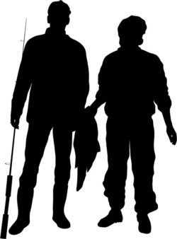 Fishermen silhouettes file cdr and dxf free vector download for Laser cut Plasma