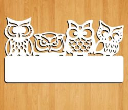 Four owl key hook file cdr and dxf free vector download for Laser cut