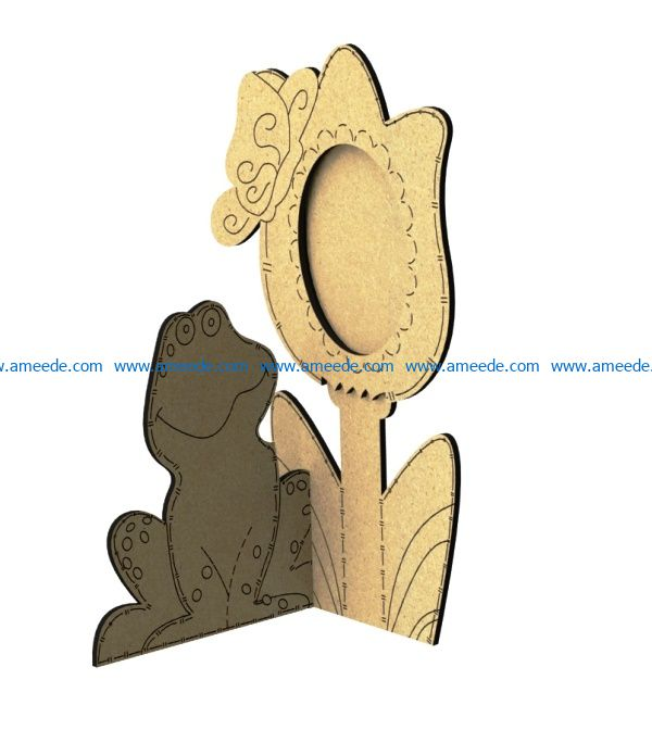 Frog portrait file cdr and dxf free vector download for Laser cut