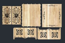 Gift boxes for March 8  file cdr and dxf free vector download for Laser cut