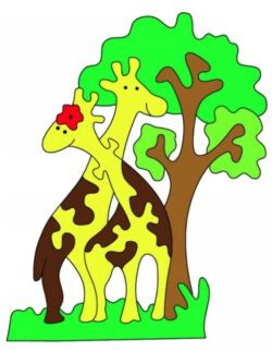 Giraffe puzzle file cdr and dxf free vector download for Laser cut