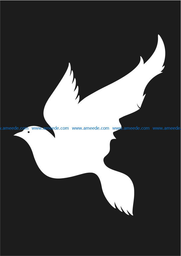Girl and bird illusion file cdr and dxf free vector download for Laser cut