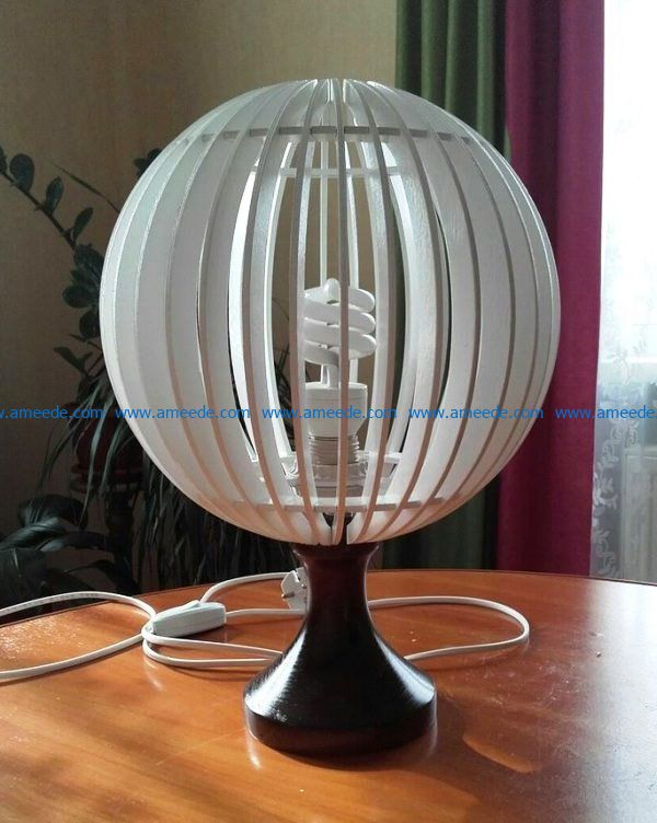 Globe lamp file cdr and dxf free vector download for Laser cut