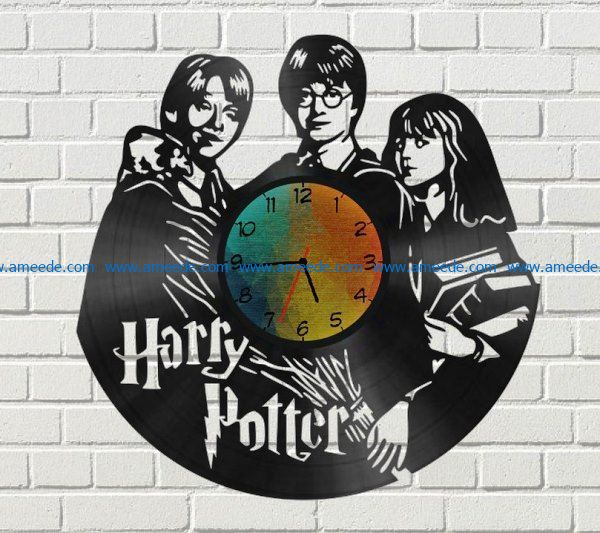Harry potter wall clock file cdr and dxf free vector download for Laser cut