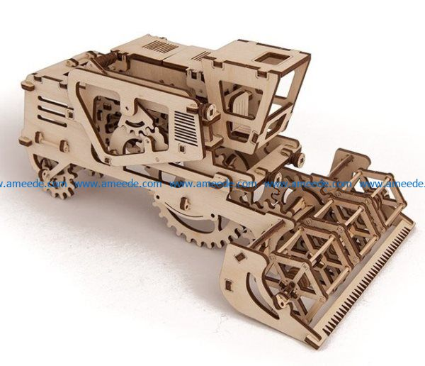 Harvester cutting file cdr and dxf free vector download for Laser cut