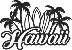 Hawaii file cdr and dxf free vector download for Laser cut Plasma