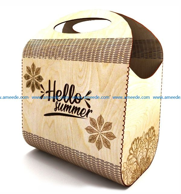 Hello summer bag file cdr and dxf free vector download for Laser cut