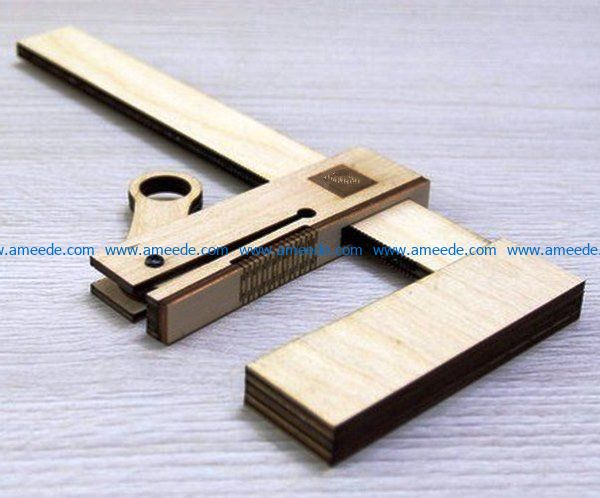 Homemade Clamp file cdr and dxf free vector download for Laser cut