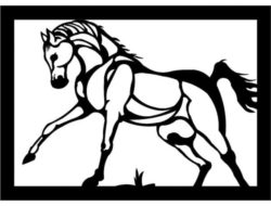 Horses tiptoed file cdr and dxf free vector download for Laser cut Plasma