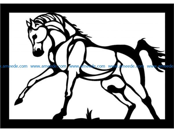 Horses tiptoed file cdr and dxf free vector download for Laser cut