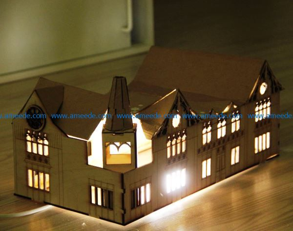 House Lamp file cdr and dxf free vector download for Laser cut