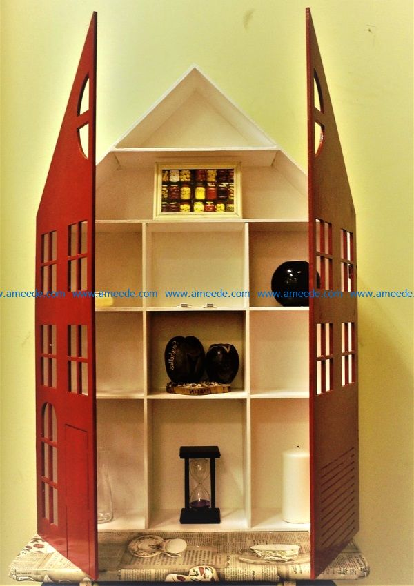 House shelves file cdr and dxf free vector download for Laser cut