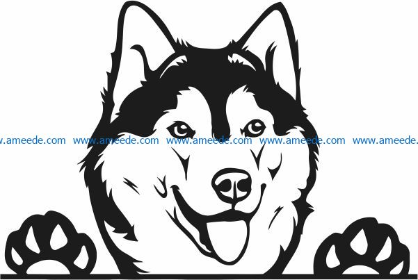 Husky file cdr and dxf free vector download for laser engraving machines