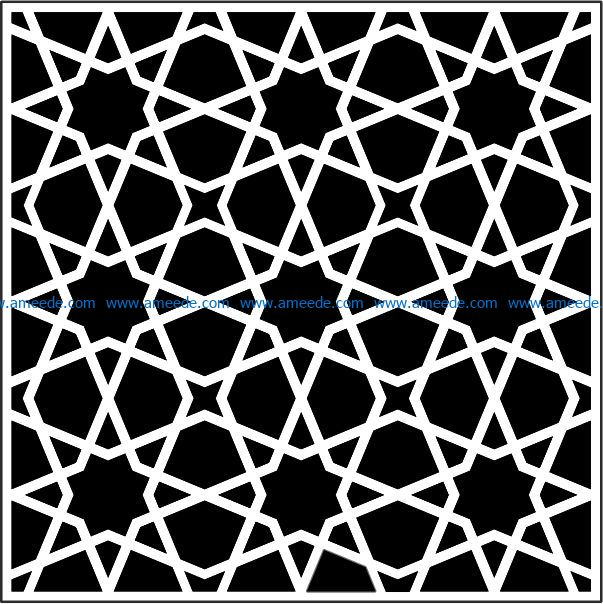 Islamic decorative squares file cdr and dxf free vector download for Laser cut