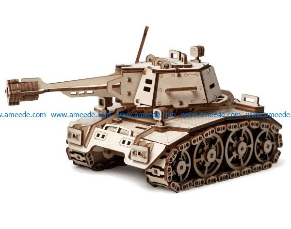 Kadet Tank file cdr and dxf free vector download for Laser cut