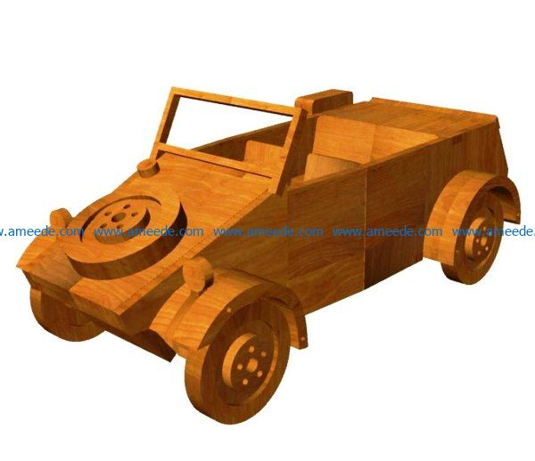Kubelwagen file cdr and dxf free vector download for Laser cut