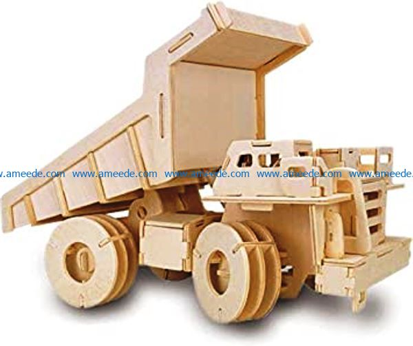 Large truck file cdr and dxf free vector download for Laser cut