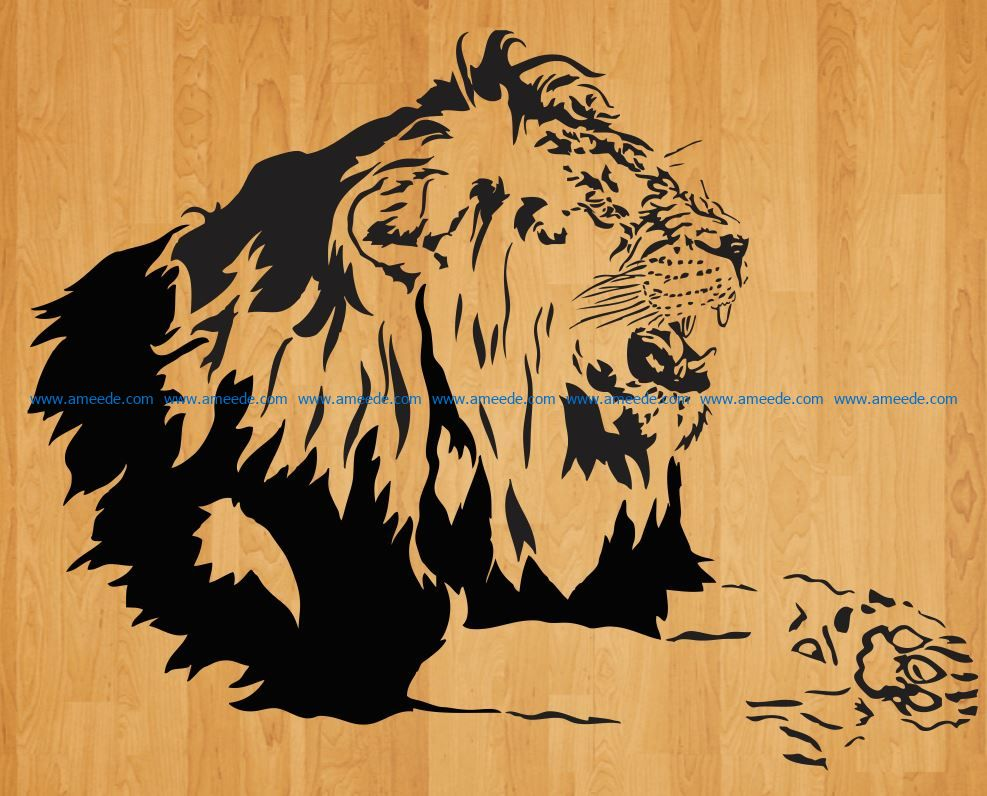 Lions roar file cdr and dxf free vector download for laser engraving machines