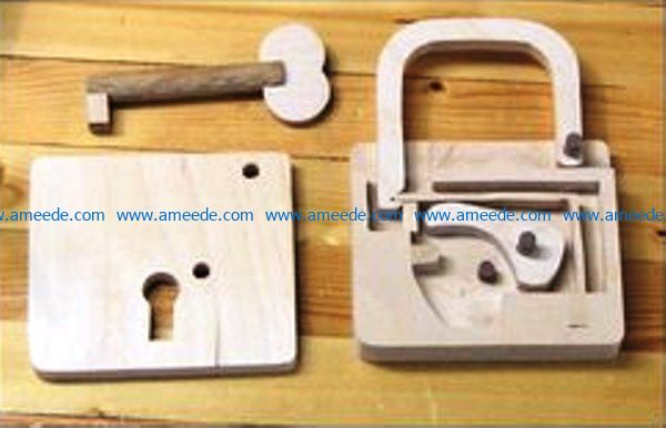 Lock and key file cdr and dxf free vector download for Laser cut