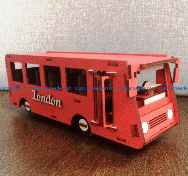 London bus file cdr and dxf free vector download for Laser cut