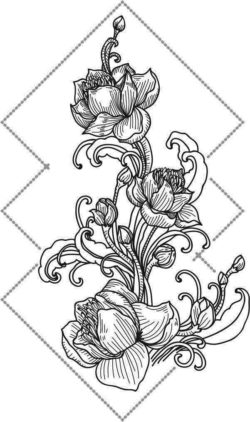 Lotus ornament file cdr and dxf free vector download for laser engraving machines