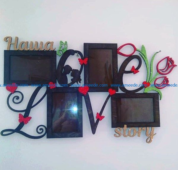 Love story photo frames file cdr and dxf free vector download for Laser cut